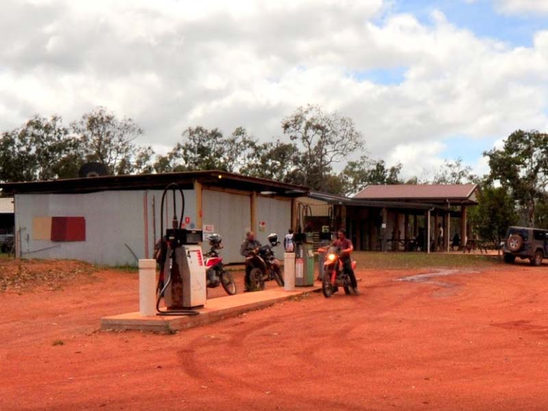 Petrol and Diesel Pumps outside the Junction Roadhouse at Bramwell Station in Cape York