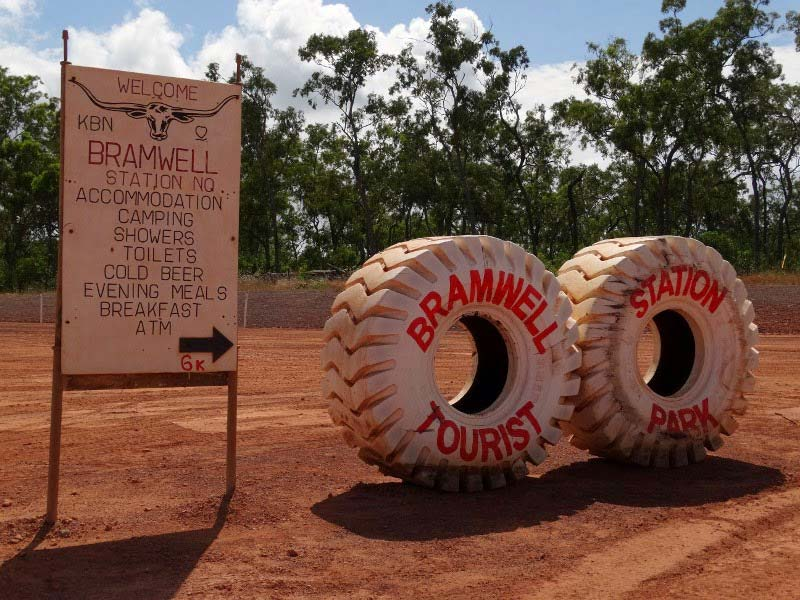 The Bramwell Station Tourist Park white tyres in Cape York