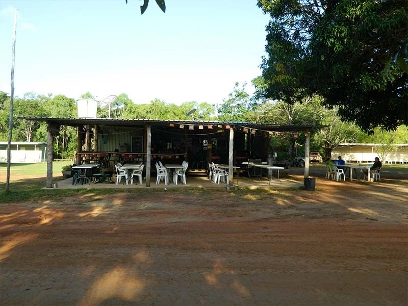 Bramwell Station Tourist Park dining area in Cape York