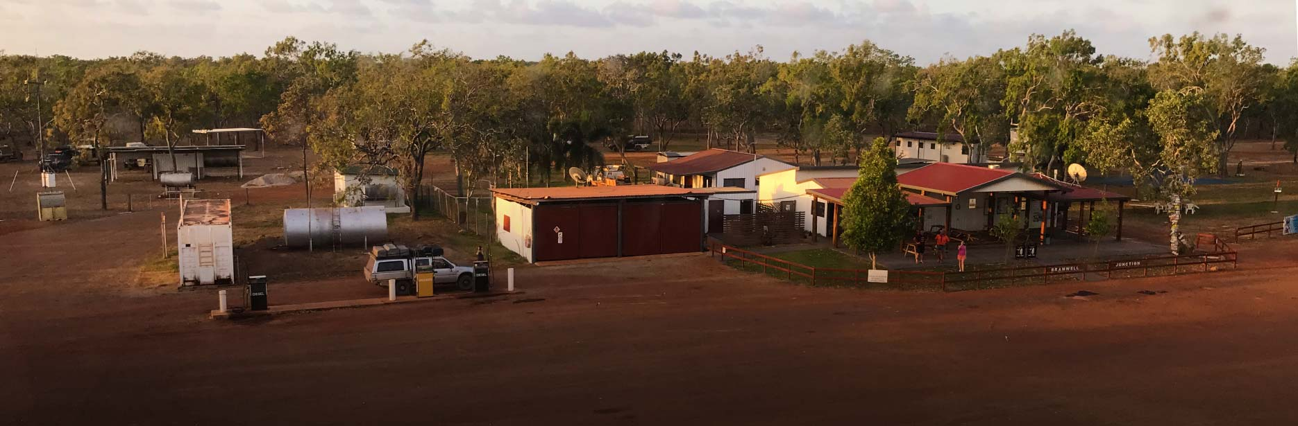 Drone photo of the Barmwell Station's Junction Roadhouse and Tourist Park in Cape York
