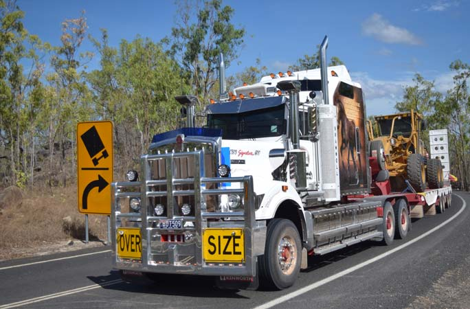 Roadworks & Earthmoving Machinery on a Truck in Cape York