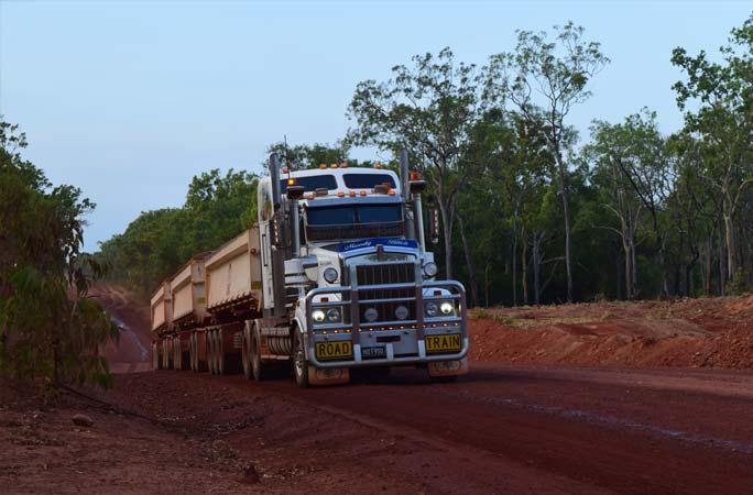 Roadworks & Earthmoving Truck in Cape York